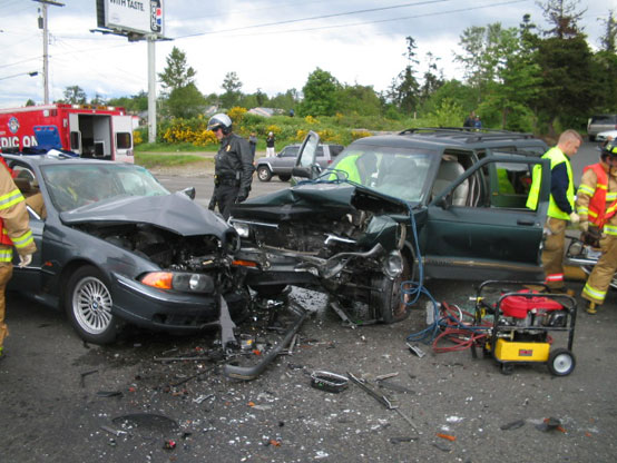 Who is really at fault for the motor vehicle accident for There are usually collisions in a motor vehicle crash