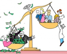 Money upsets the balance of justice for citizens